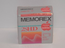"New Sealed Memorex 2SHD Ten Macintosh Formatted 3.5"" Computer Floppy Dis... - $10.88"