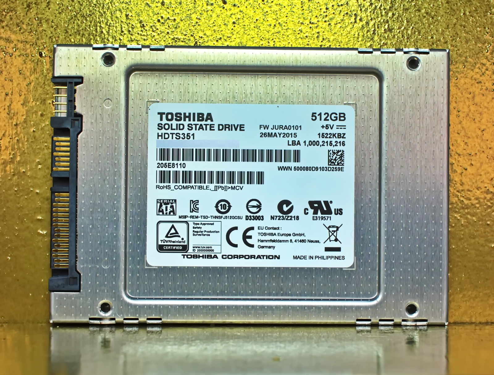 "Primary image for Toshiba Q Series Pro 2.5"" 512GB Internal Solid State Drive (SSD) HDTS351XZSTA HD"