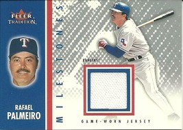 2003 Fleer Tradition Milestones Game Used Rafael Palmeiro Rangers - $6.00