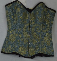 Green and Gold Brocade Ladies Corset - $69.95