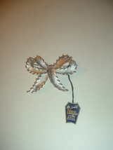 Crown Trifari Pin or Brooch Brushed Silvertone Bow Vintage - $22.99