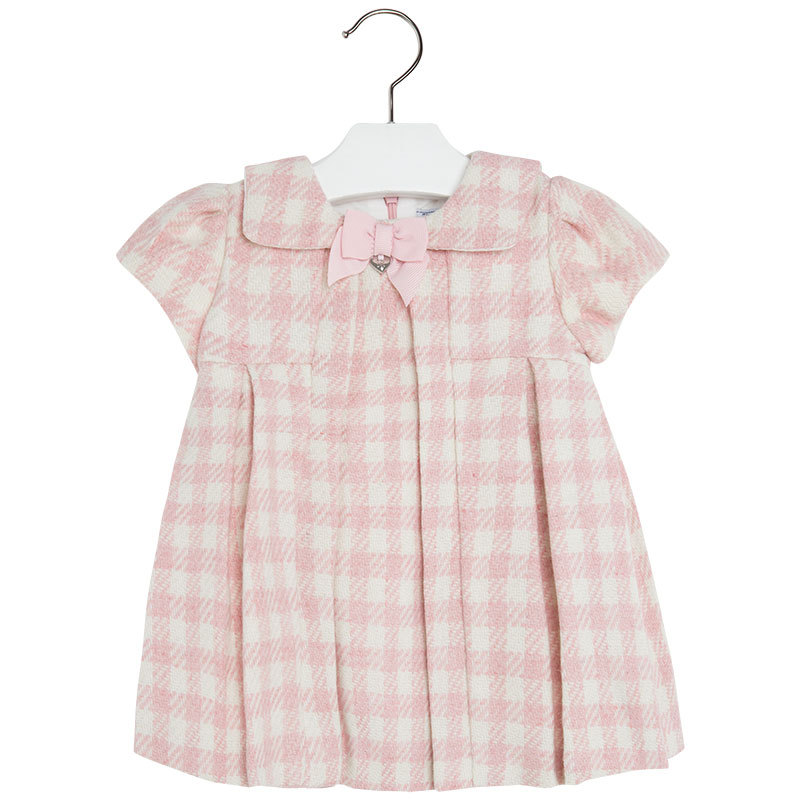 Mayoral Baby Girls Wool Blend Check Plaid Dress