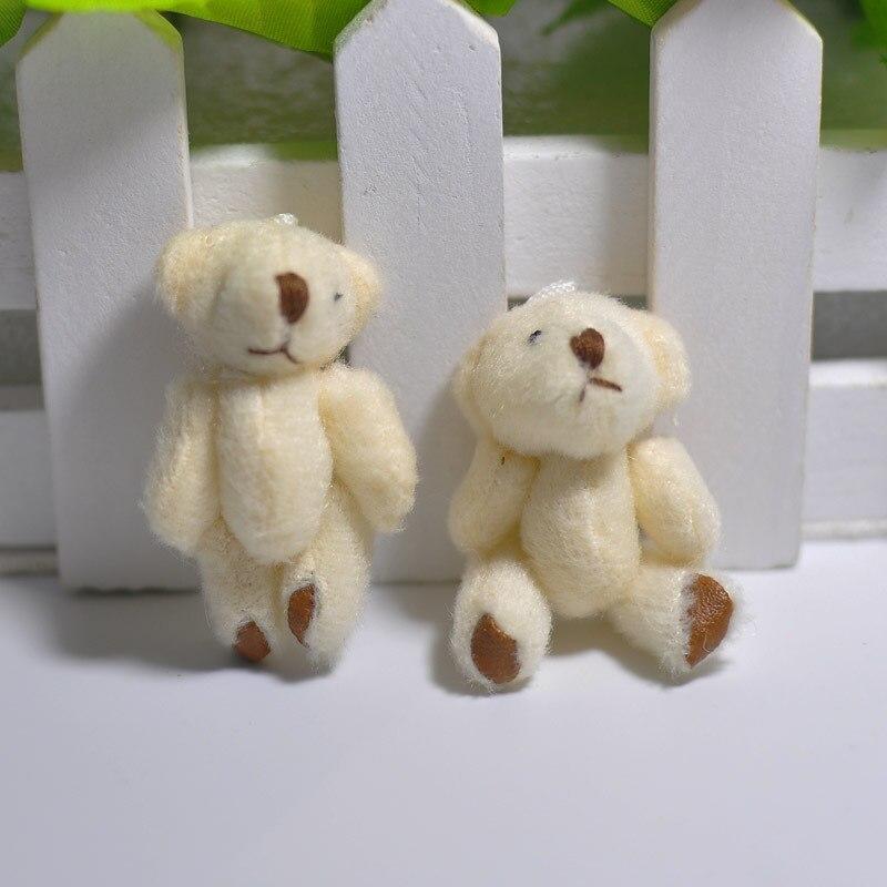 100Pc/Lot 4.5/6CM/7CM Mini Small Joint Teddy Bear Plush Toys,Cute Mini Joint Bea image 2