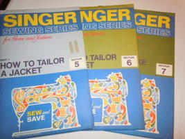 Vintage Singer Sewing Series How to Tailor a Jacket & Draperies 5 6 and 7  - $5.99
