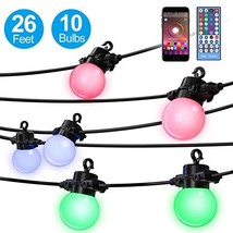 Elrigs LED String Light Color ChangingRGBW, 26 Feet with 10x G45 Bulbs, ... - $38.93