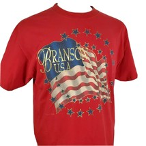 Vintage Branson, MO USA Flag T-Shirt Large Single Stitch Music Crossroad... - $19.49