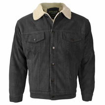 Men's Premium Classic Button Up Fur Lined Corduroy Sherpa Trucker Jacket image 8