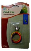 Bird Life Olympic Rings w/Bell BA-522, 5 Multi Color Rings Parakeets Small Birds