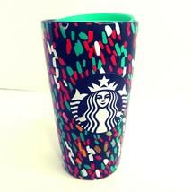 "Starbucks 2019 Confettti Travel Mug 8"" Sippy Lid 12 Oz Collectible Ceram... - $43.39"