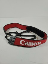 "Canon Camera Strap Red Adjustable Nylon OEM 1 1/2"" wide 23 1/2 long - $9.61"