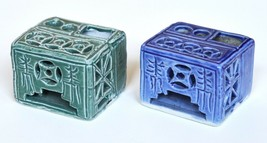 Vintage Porcelain Chinese Inkwells - Two pieces - $19.80