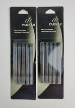 Lot of 2 Parker Black ReFill Ink Cartridges New In Pack 5 per pack - $23.36