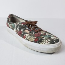 Vans Off the Wall Men 11M Skater Sneaker Leather Laces Tropical Floral P... - $19.99