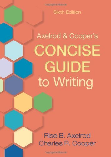 Bonanza May 2011: Axelrod & Cooper's Concise Guide To Writing [Oct 19, 2011