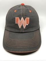 Whataburger Cap Hat Adult Adjustable Gray Orange Embroidered 100% Cotton - $13.12