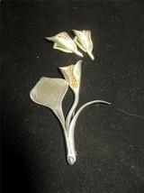 Anton Michelsen Sterling Denmark Lily Brooch Broach Earrings Nougie Rougie - $389.99