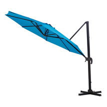 Mainstays Reinhardt 11 Blue Cantilever Patio Umbrella - $177.14
