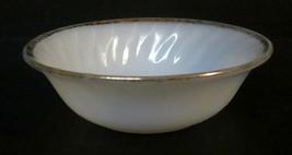 Vtg MCM Fire King Oven Ware Gold Trim Rim Milk Glass Berry Dessert Bowl ... - $9.99