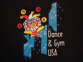 Vintage All Dolled Up Dance & Gym USA Souvenir Black T Shirt Size M - $11.87