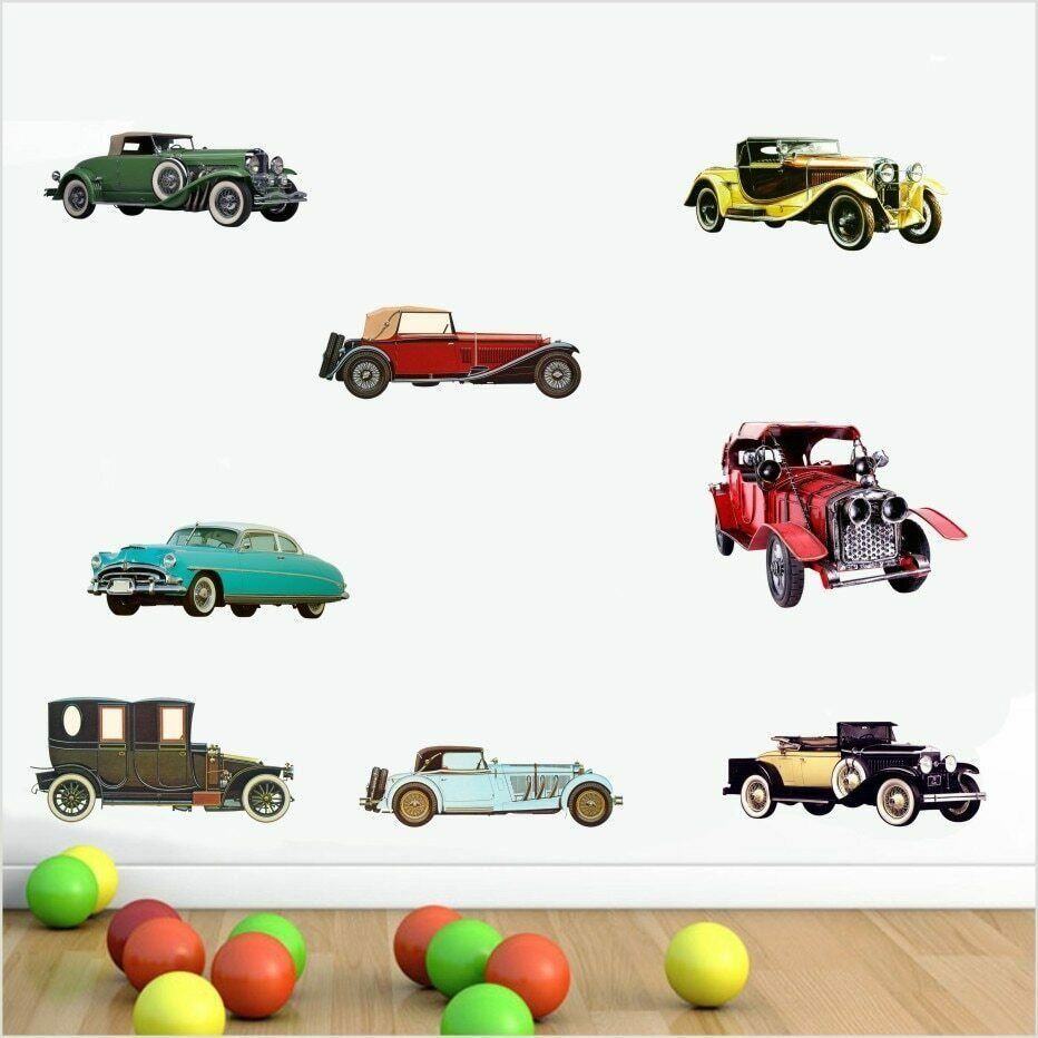 Primary image for Popular Retro Cars Collection History Poster Color Wall Sticker For Kds