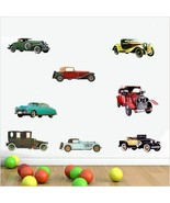 Popular Retro Cars Collection History Poster Color Wall Sticker For Kds - $3.75+
