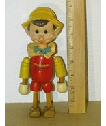 Vintage Ideal Novelty & Toy Co Walt Disney PINOCCHIO Wood Jointed Doll F... - $44.54