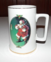 Coca Cola 1996 When Friends Drop In Santa Christmas Mug Cup Vintage - $3.96