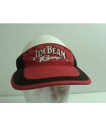 Jim Beam Racing Bobby Gordon Adjustable Visor Red Advertising - $10.88