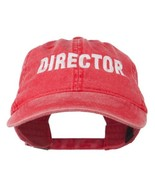 Director Embroidered Washed Cotton Cap - Red OSFM - $22.43