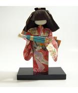 Asian Geisha Doll Kimono Parasol Figurine Vintage Figure Handmade Fabric... - £13.67 GBP