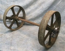 Industrial Age Factory Cart Cast Iron Wheels Hardware Lineberry Coffee T... - $199.00