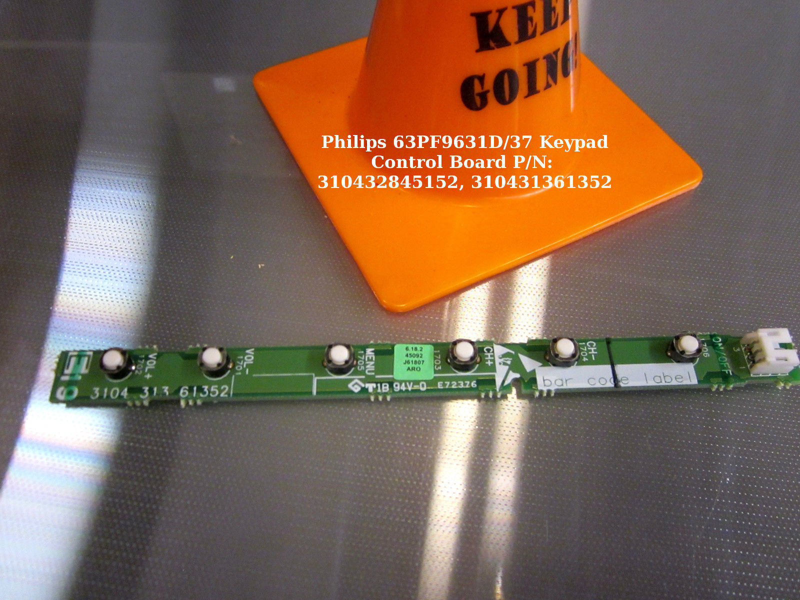 Primary image for Philips 63PF9631D/37 Keypad Control Board P/N:  310432845152, 310431361352