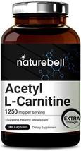 Maximum Strength Acetyl L-Carnitine 1250mg Per Serving, 180 Capsules, Me... - $21.60