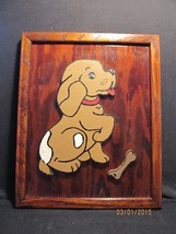 Handcrafted Wood Picture of Beagle Puppy Dog – ... - $11.30