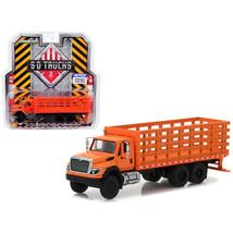 2017 International Workstar Platform Stake Truck Orange SD Trucks Series... - $25.50