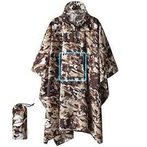 Hooded Rain Poncho Waterproof Raincoat Jacket for Men Women Adults A-Des... - $31.11