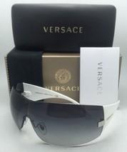 Neu Versace Sonnenbrille Ve 2054 1000/8G 115 Gunmetal & Weiss W / Grau - $230.01