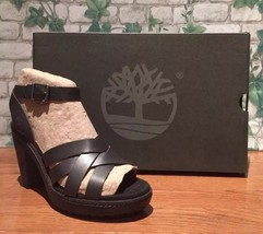 Timberland Women's Chauncey Ankle Strap High Heel Sandals  Black A1JHE S... - $49.50