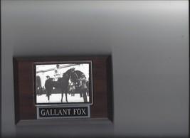 Gallant Fox Plaque Horse Racing Turf Triple Crown Winner - $3.95