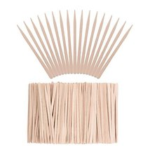 Whaline 400 Pieces Small Wax Sticks Wood Spatulas Applicator Craft Sticks for Ha image 10