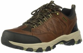 Skechers Men's SELMEN-HELSON Trail Oxford Hiking Shoe, Light Brown, 10.5... - $59.47