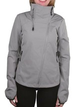 Bench Women's Grey Haughty Zip Up Fleece Lined Jacket BLKA1764 NWT