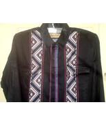 MC7 ROPER Indian motif broad column black western shirt Size XXL=18,35 - $14.84