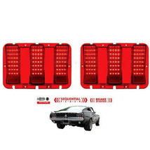 67 68 Ford Mustang Red LED Sequential Tail Brake Stop Light Lamp Lens PAIR - $139.95