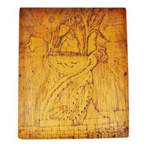 Vintage Pyrography Floral Wall Art - $95.00