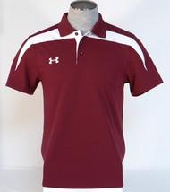 Under Armour Moisture Wicking Burgundy & White Short Sleeve Polo Shirt Men's NWT - $59.99