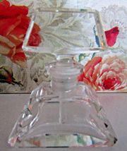 """Vintage Czech Perfume Bottle~Dauber Intact~Signed~2.5"""" Tall~Excellent Co... - $135.19"""