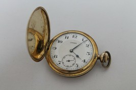 Vintage swiss pocket watch LAMINOR, gold plated - $168.40