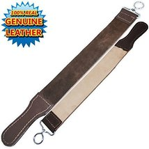 "Straight Razor Strop Leather Sharpening Strap 20"" Barber Strop 2 Pack image 2"