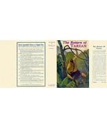 Edgar Rice Burroughs THE RETURN OF TARZAN replicate dust jacker, A. L. B... - $33.76